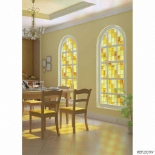 Window Films - Decorative Films - Stained Glass Effect - VTJ 310 - Yellow