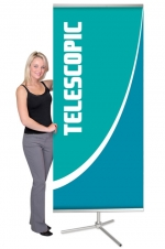 Dash Mega 1 DSH-ME - 36 x 93.5 - Telescopic Non-retractable Banner Stand - w. Bag