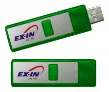 Custom Plastic Retractable USB Flash Drive - Rectangle