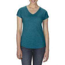 ANVIL - 6750VL - T-Shirt - Triblend Col en V pour femme - 50/25/25 - Galapagos Cendré - X-Small