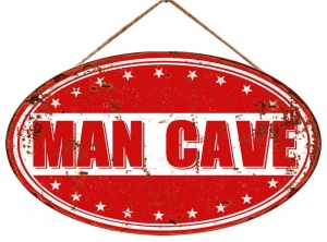TIMBER - MAN CAVE IRON WALL PLAQUE