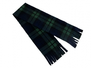 Plaid Tassel Fleece Scarf (45x6)