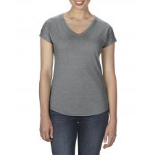 ANVIL - 6750VL - T-Shirt - Triblend Col en V pour femme - 50/25/25 - Graphite Cendré - Medium