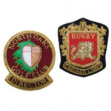 4 X 4 Embroidered Bullion Crest