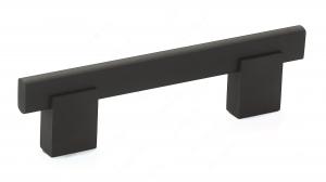 Poignée contemporaine en métal et aluminium - 905 - 96 mm - Noir mat