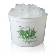 64 oz. Poly White Bucket Ice/Popcorn