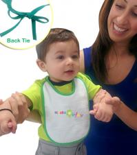Velour Easy Tie Mini Baby Bib (7x9)