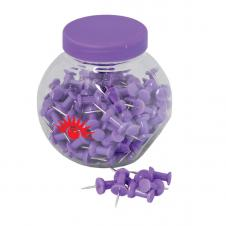 PUSH PINS IN A CONTAINER
