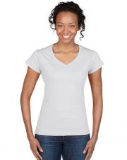 Gildan 64V00L - Women Adult T-Shirt fit euro style - V-Neck - 100% Cotton