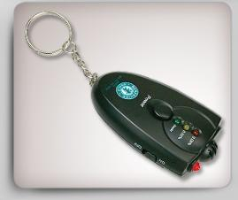 Breath Alcohol Detector Key Chain w/ Led Light