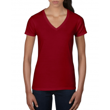 ANVIL - 88VL - T-Shirt Col en V Léger pour femme - 7.5 oz - Rouge Indépendant - X-Large