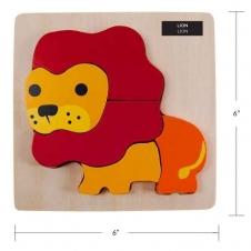 IPLAY - casse-tête en bois - Lion - 6 x 6 (15.24 x 15.24 cm)
