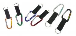 Large Size 7 Cm Carabiner with Strap and Split Key Ring