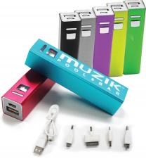 Aluminium Bar Power Bank (1500mah) Aluminium Bar Power Bank (2600mah)