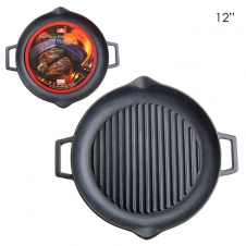 OLYMPIA - CAST IRON GRILL PAN - 31CM/12