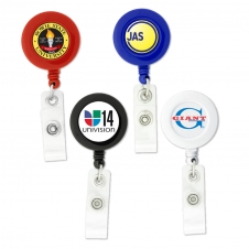 Badge Holder Round-Shaped Retractable Badge Holder