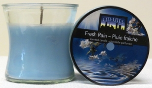 CITI-LITES 2.5 OZ HOURGLASS JAR FRESH RAIN