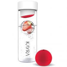 Ice Ball Flavor It Glass Water Bottle