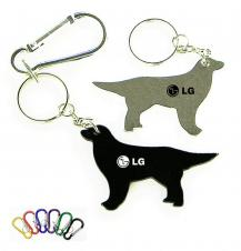 Dog Shape Bottle Opener with Key Chain & Carabiner