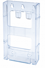 WallMount Brochure Holder up to 4 Width - Lit Loc™ - 1 pocket - Clear