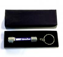 5 LED Metal Flashlight with Swivel Keychain and Gift Case