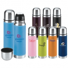 16 Oz. Leatherette Vacuum Bottle