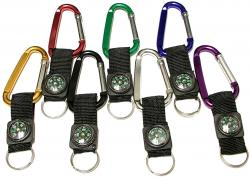 Large Size 7 Cm Carabiner with Compass