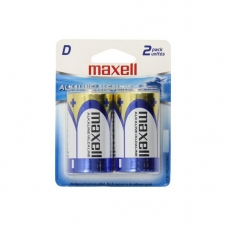 Batterie - Maxell - D - Alkaline - Emballage de 2