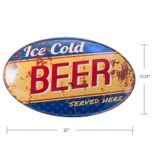 TIMBER - TIN SIGN ICE COLD BEER