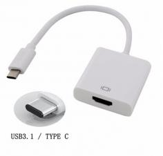 Cellulaire adaptateur - Adaptateur Type C à HDMI - Blanc