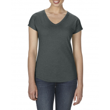 ANVIL - 6750VL - T-Shirt - Triblend Col en V pour femme - 50/25/25 - Gris Foncé Cendré - X-Small