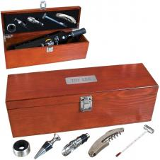 5 Piece Wooden Wine Kit