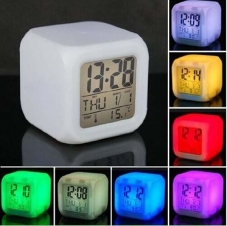 7 LED Color Digital Alarm Clock