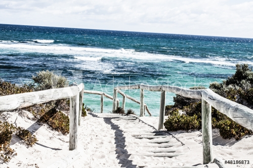 Scenic view over one of the beaches of Rottnest island