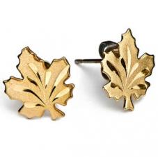 Brass Maple Leaf Earrings
