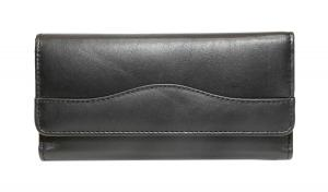 Concetta Ladies Cheque Mate Wallet - Midnight Black