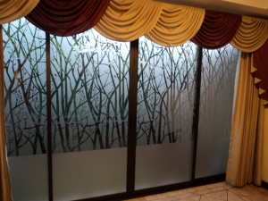 Window Films - Decorative Films - Frosted Films - INT 530 - Trees