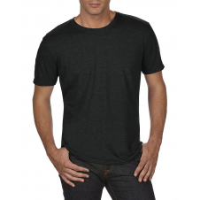 ANVIL - 6750 - T-Shirt - Triblend Crew Neck Tee - 50/25/25 - Black - Large