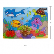 IPLAY - casse-tête en bois - Under The Sea - 9 x 12 (30 x 22.5 cm)