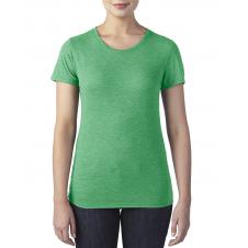 ANVIL - 6750L - T-Shirt - Triblend Col Rond pour femme - 50/25/25 - Vert Cendré - X-Small
