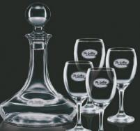 Elegance Decanter with 4 Wine Glasses