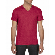 ANVIL - 6752 - T-Shirt - T-Shirt à col en V Triblend - 50/25/25 - Rouge Cendré - Medium