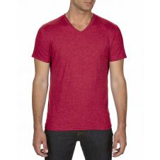 ANVIL - 6752 - T-Shirt - T-Shirt à col en V Triblend - 50/25/25 - Rouge Cendre? - Medium