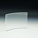 Support d'affiches de comptoir - Premium - Fermeture aimantée - Courbé - 11 L x 8,5 H - Acrylique durable claire