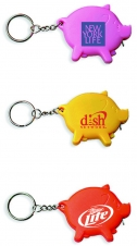 Pig Shape Tape Measure Key Chain
