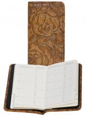 Tooled Leather Pocket Telephone & Address Book