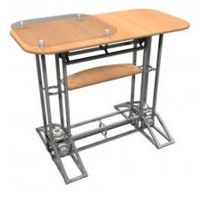 Truss Counters - Racetrack Top - With plexi stand-off and internal shelf