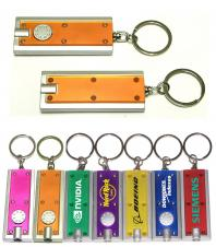 Slim Rectangular Flashlight with Swivel Key Chain (Translucent Orange)