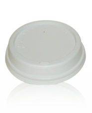Lids for Paper Cups - 12 and 16oz white dome lid
