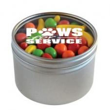 Runts in Large Round Window Tin